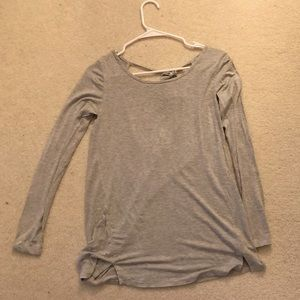 Grey Backless Top
